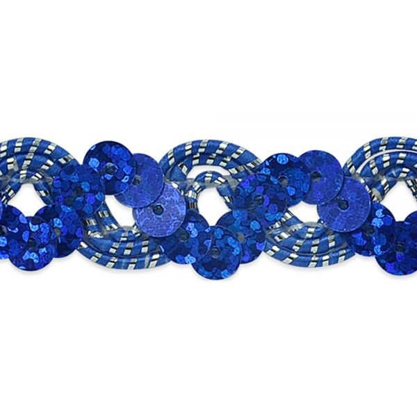 "Reba Ric Rac Sequin Braid Trim 3/4""X9'"