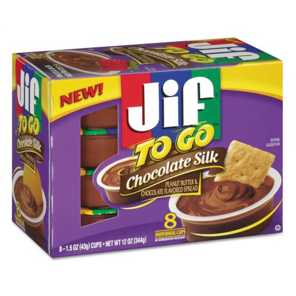 Jif To Go Creamy Chocolate Silk Cups