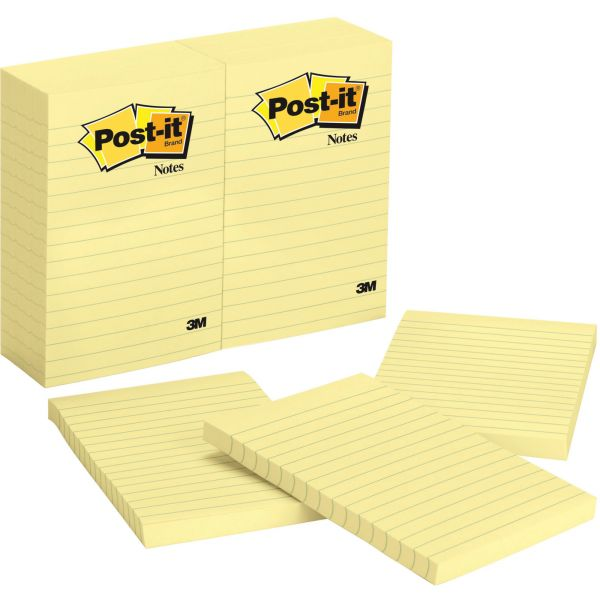 Post-it Ruled/Lined Adhesive Note Pads