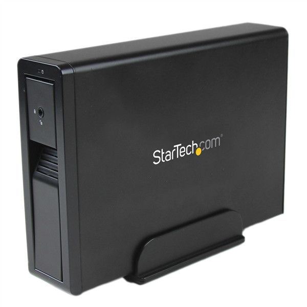 "StarTech.com USB 3.0 eSATA Hard Drive Enclosure - Trayless 3.5"" SATA III HDD Enclosure - SATA 6 Gbps - Black"