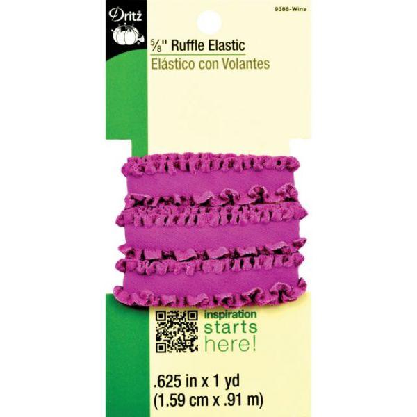 """Ruffle Elastic 5/8""""X1yd"""