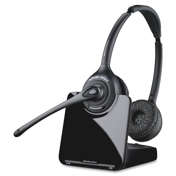 Plantronics CS520 Binaural Over-the-Head Wireless Headset