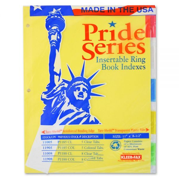 Kleer-Fax Pride Series Insertable Tab Index Dividers
