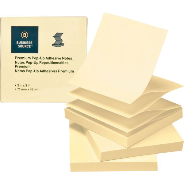 """Business Source 3"""" x 3"""" Pop-Up Adhesive Note Pads"""