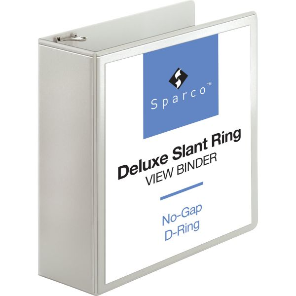 """Sparco Deluxe 4"""" 3-Ring View Binder"""