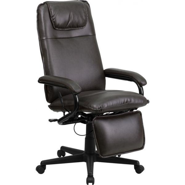 Flash Furniture High Back Executive Reclining Swivel Office Chair [BT-70172-BN-GG]