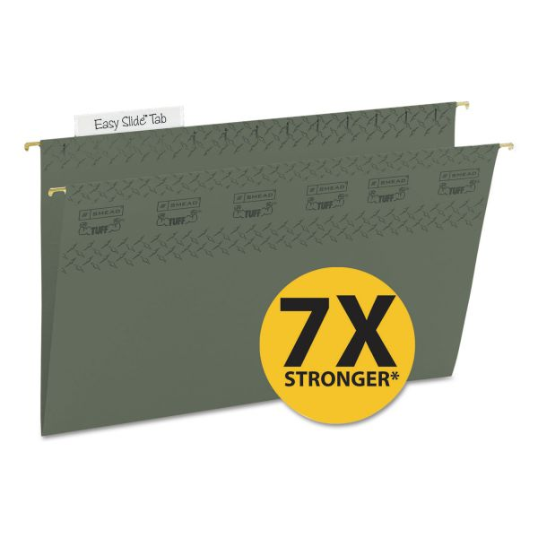 Smead TUFF Hanging File Folders with Easy Slide Tab