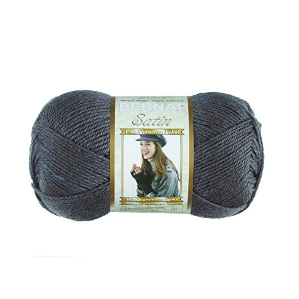 Bernat Satin Yarn - Gray Mist Heather