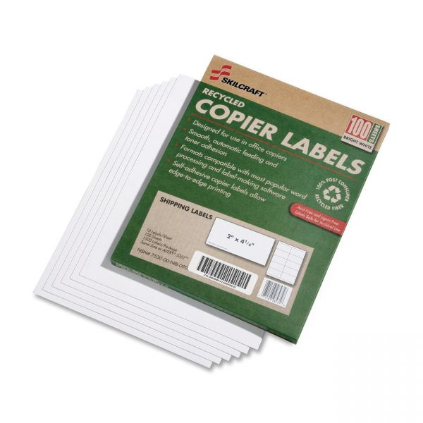 Skilcraft Copier Shipping Labels