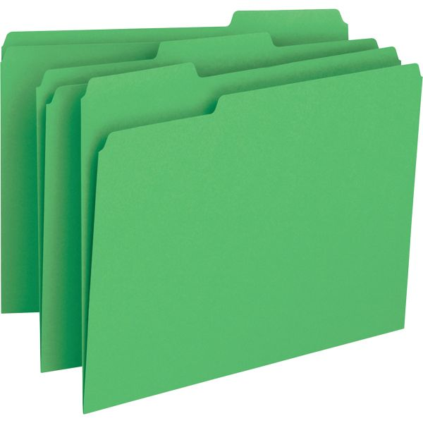 Business Source Green File Folder
