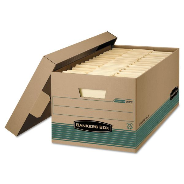 Bankers Box Stor/File Medium-Duty Storage Boxes With Lift-Off Lids