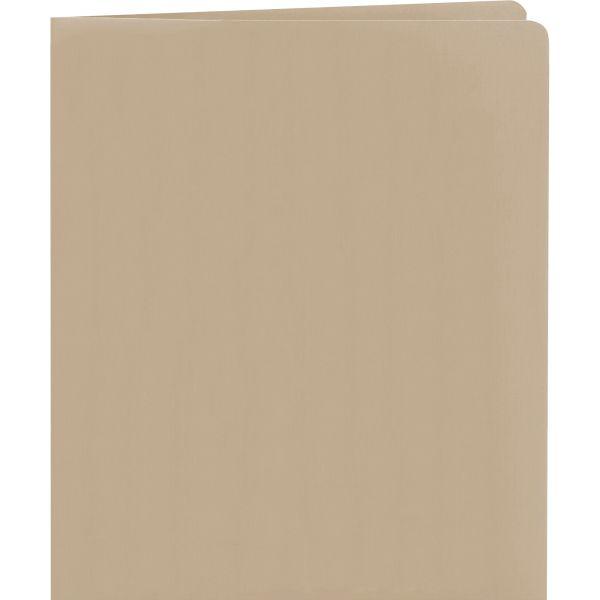 Smead Two-Pocket Folder, 50-Sheet Capacity, Gray, 25/Box