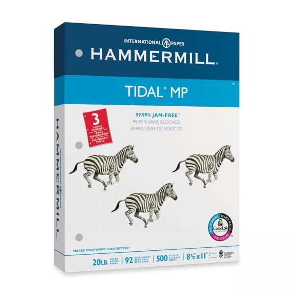 Hammermill Tidal MP Three-Hole Punched White Copy Paper