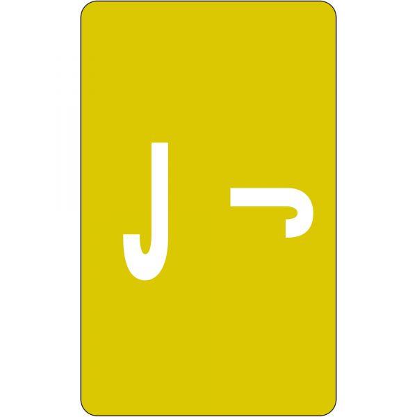Smead AlphaZ ACCS Color-Coded Alphabetic Label - J