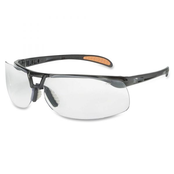 Uvex by Honeywell Protege Safety Eyewear, Metallic Black Frame, Clear Lens