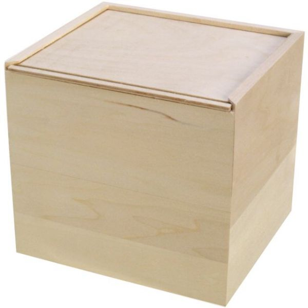 Basswood Card Keeper Slide Lid Box
