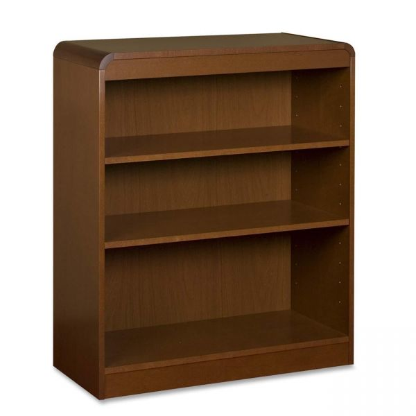 Lorell 3-Shelf Wood Veneer Bookcase