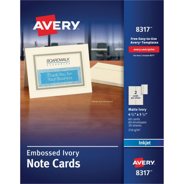 Avery 8317 Embossed Note Cards