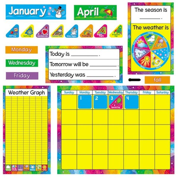 Trend Year Around Calendar Bulletin Board Set