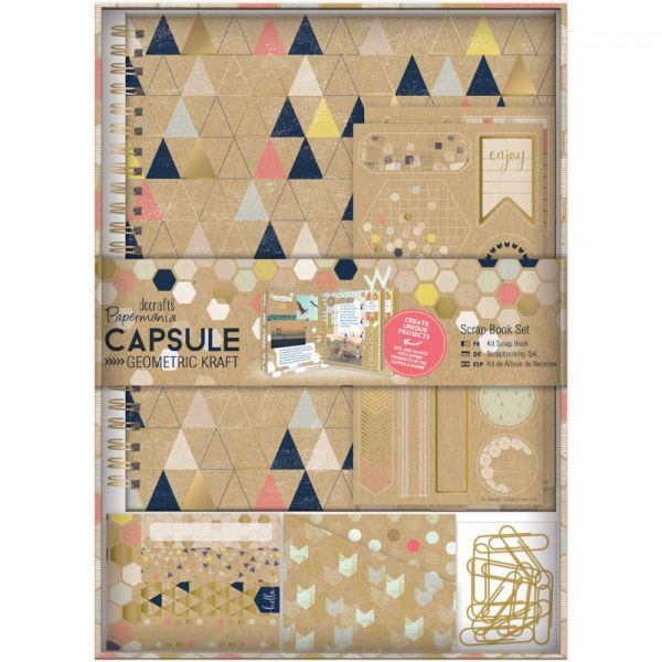 Papermania Geometric Kraft Spiral Scrapbook Kit