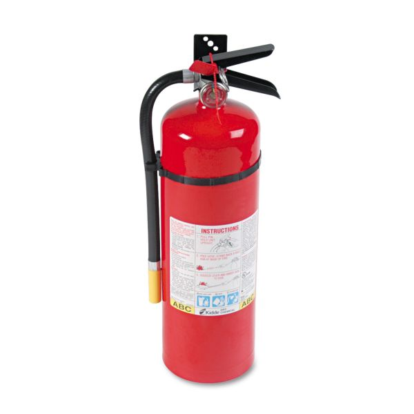 Kidde ProLine Pro 10MP Fire Extinguisher, 4 A, 60 B:C, 195psi, 19.52h x 5.21 dia, 10lb