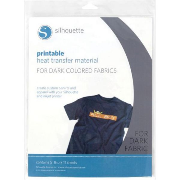 "Silhouette Printable Heat Transfer Material 8.5""X11"" 5/Pkg"
