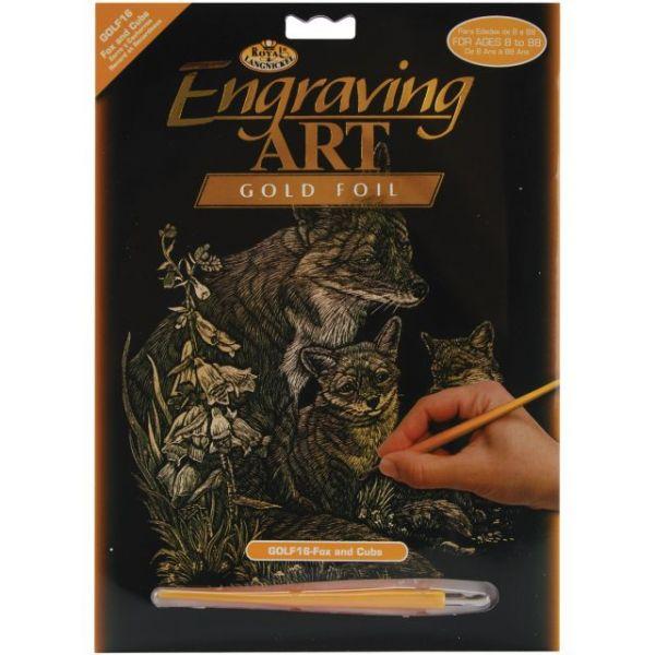 "Gold Foil Engraving Art Kit 8""X10"""