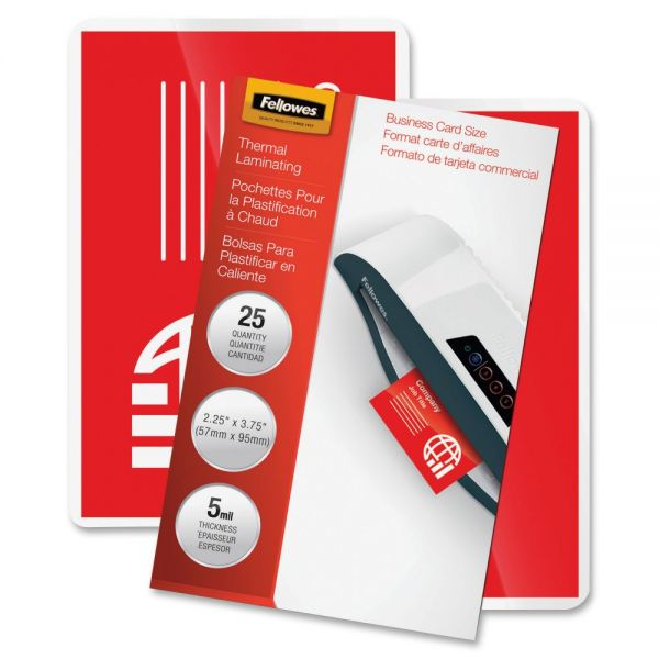 Fellowes Business Card Hot Laminating Pouches
