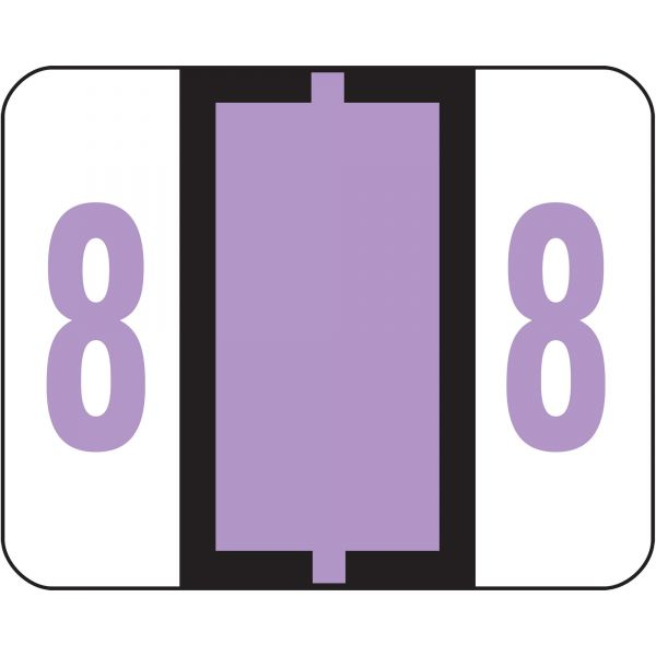 Smead BCCRN Bar-Style Color-Coded Numeric Label - 8