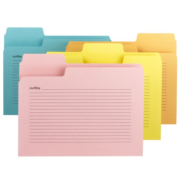 Smead SuperTab Notes Colored File Folders