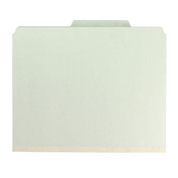 Smead 1-Divider Pressboard Classification Folders with SafeSHIELD Fasteners