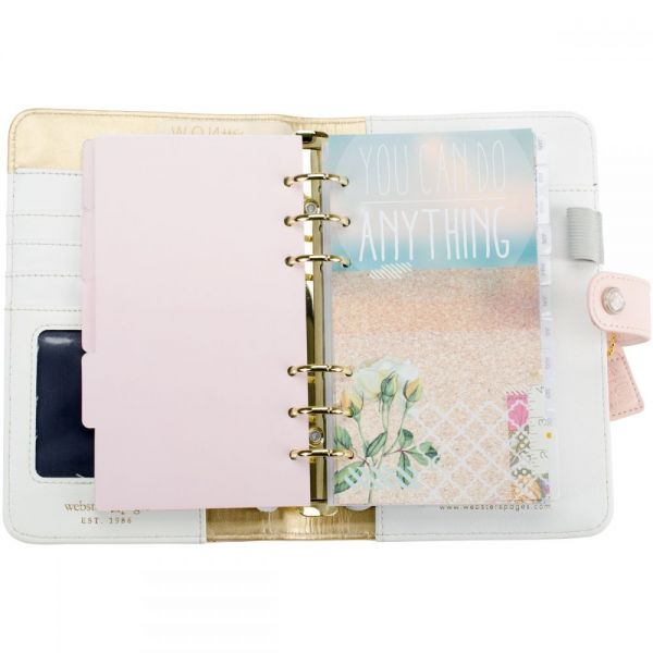 "Color Crush Faux Leather Personal Planner Kit 5.5""X8"""