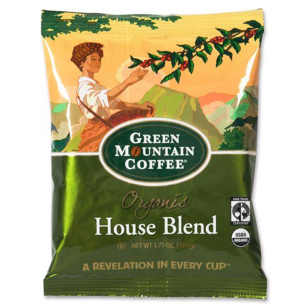 Green Mountain Coffee Fair Trade Organic House Blend Decaf Coffee Fraction Packs