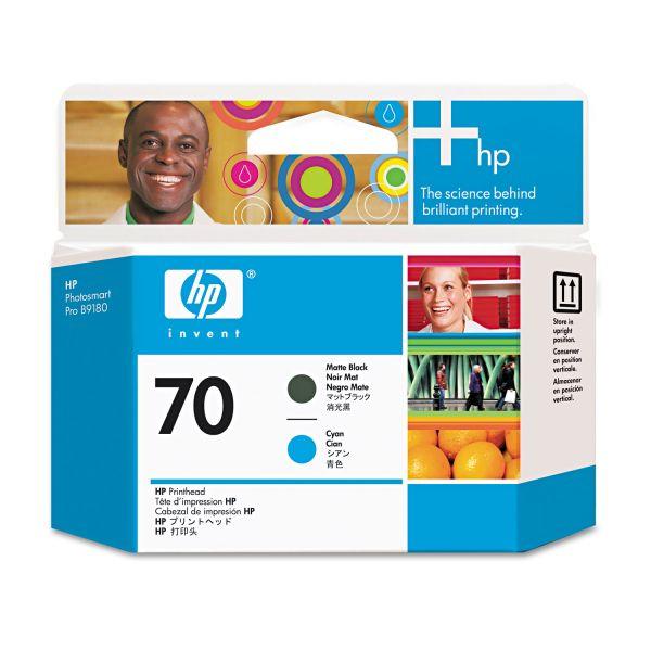 HP 70 Cyan/Matte Black Printhead (C9404A)