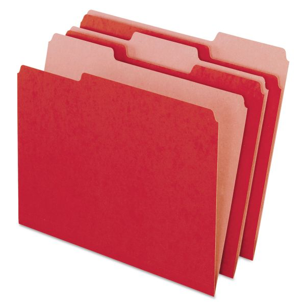 Pendaflex Recycled Red Colored File Folders