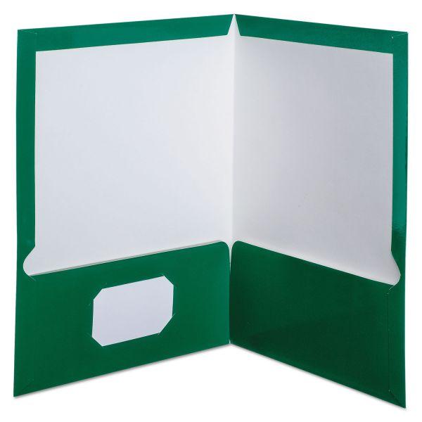 Oxford Laminated Two Pocket Folders