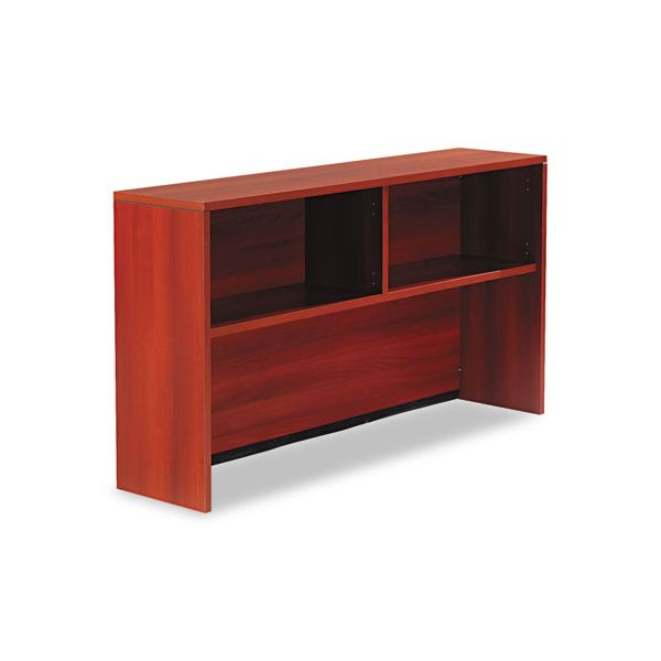 Genoa Series Open Hutch for Credenza, Avant Cherry, 66w x 15d x 36h
