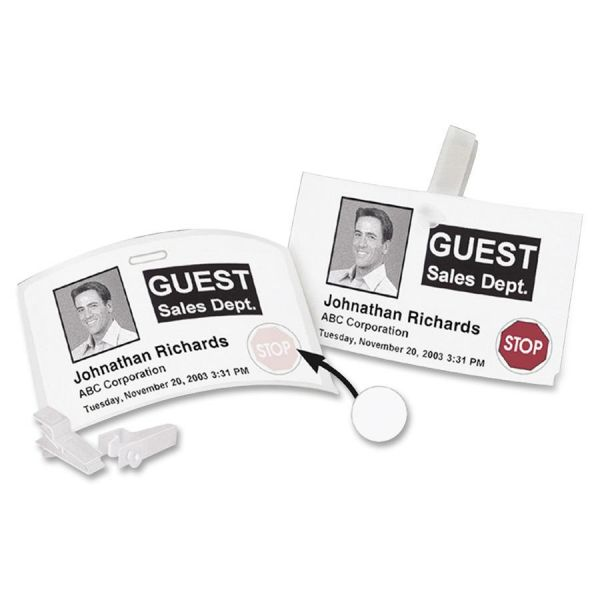 DYMO Visitor Management Time-Expiring Name Badges, Adhesive, 2-1/4 x 4, 250/Box