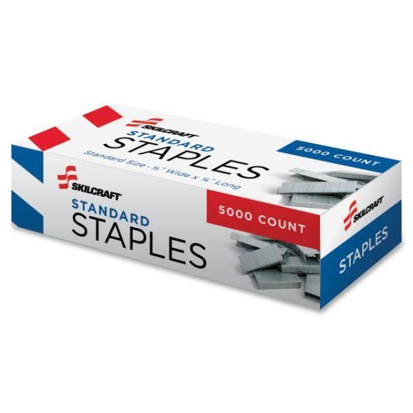 "SKILCRAFT Standard 1/4"" Staples"