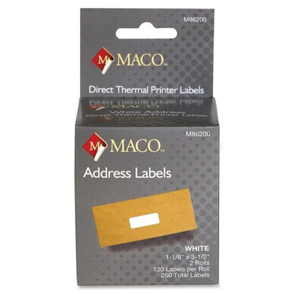 Maco Direct Thermal Address Labels