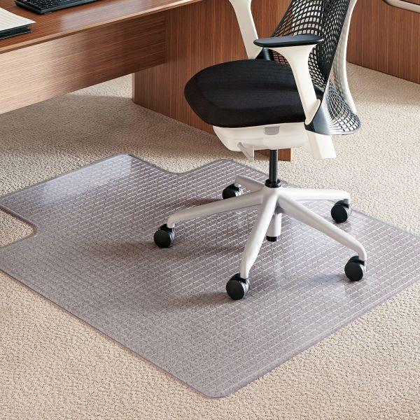 E.S. Robbins Crystal Pane Ergonomic Medium Pile Chair Mat