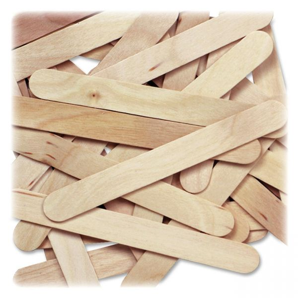 Creativity Street Natural Wood Jumbo Craft Sticks