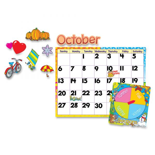 Trend Wipe-Off Monthly Cling Calendar Bulletin Board Set