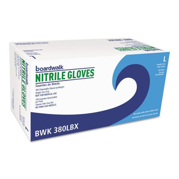 Boardwalk Disposable General-Purpose Nitrile Gloves, Large, Blue, 4 mil, 1000/Carton