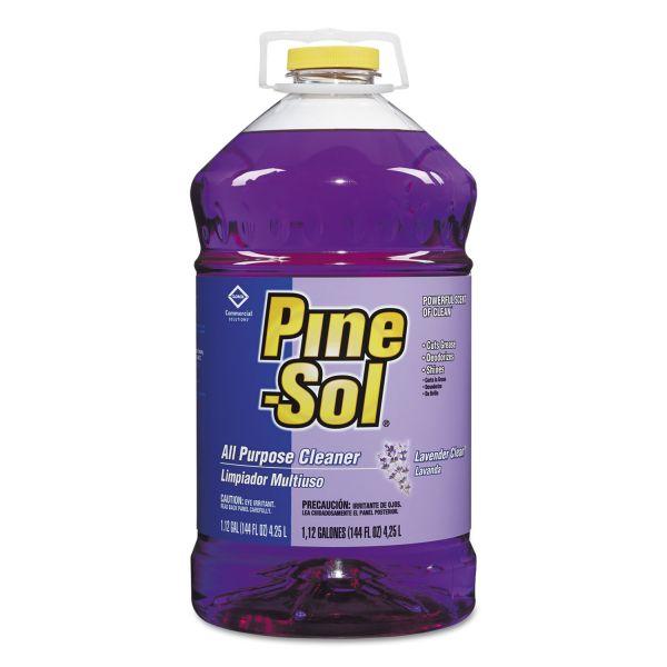 Pine-Sol All Purpose Cleaner, Lavender Clean, 144 oz Bottle, 3/Carton