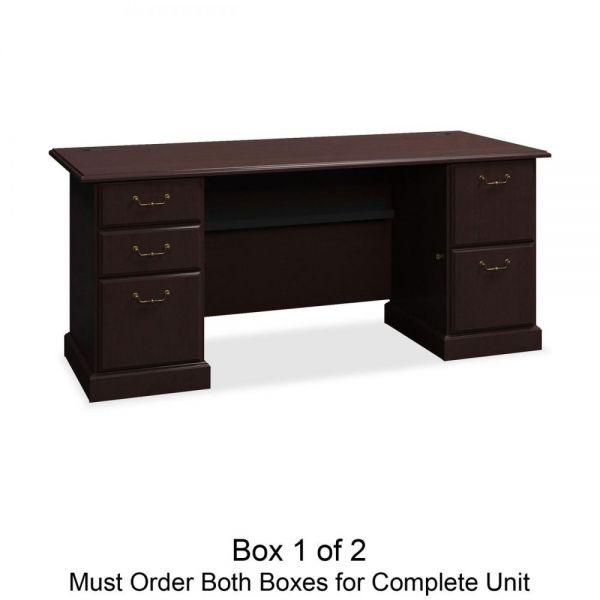 bbf Syndicate Pedestal Desk Box 1 of 2 by Bush Furniture