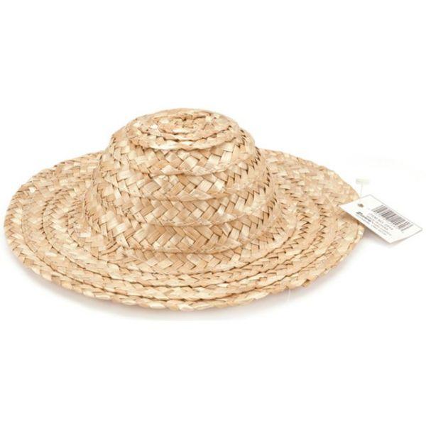 """Round Top Straw Hat 12"""""""