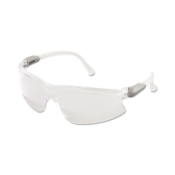 Jackson Safety* V20 Visio Safety Glasses, Silver Frame, Clear Lens