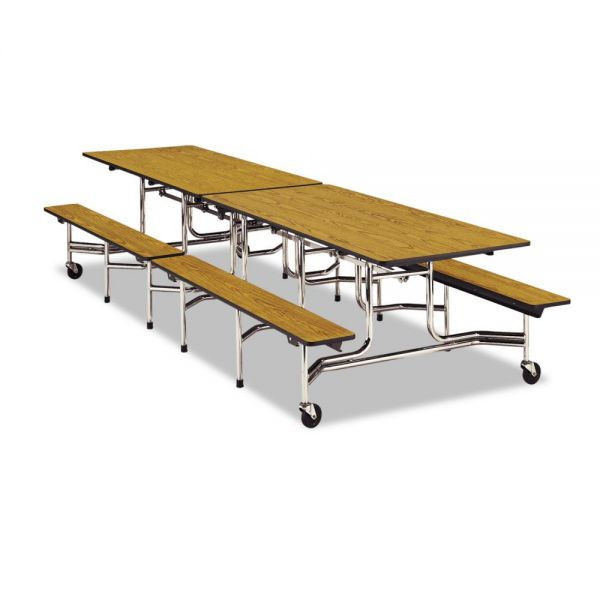 Virco Mobile Folding Tables with 2 Attached Benches