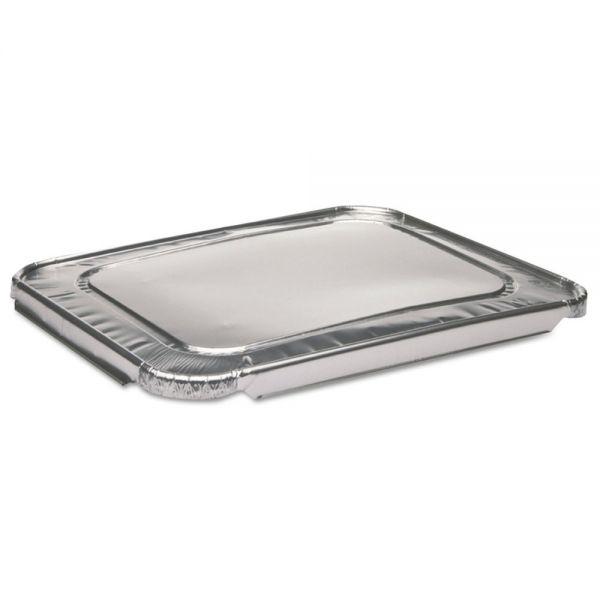 Pactiv 1/2-Size Aluminum Steam-Pan Lids